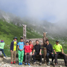 7人で木曽駒ヶ岳登山…