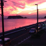 江ノ島と富士山の夕景…