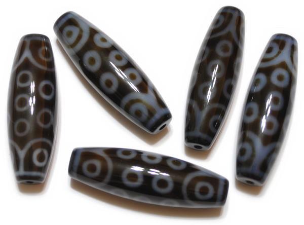 天珠(高品質)二十一眼天珠38*12mm