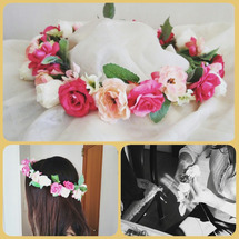 Yさんとお母様花冠を…