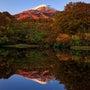 晩秋の鳥海山