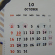 カレンダーにハロウィ…