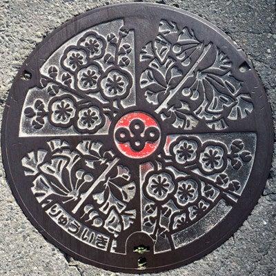 大阪府流域レッドマンホール