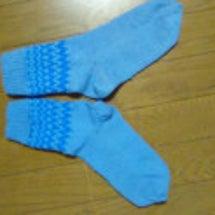 毛糸の靴下 1足目…