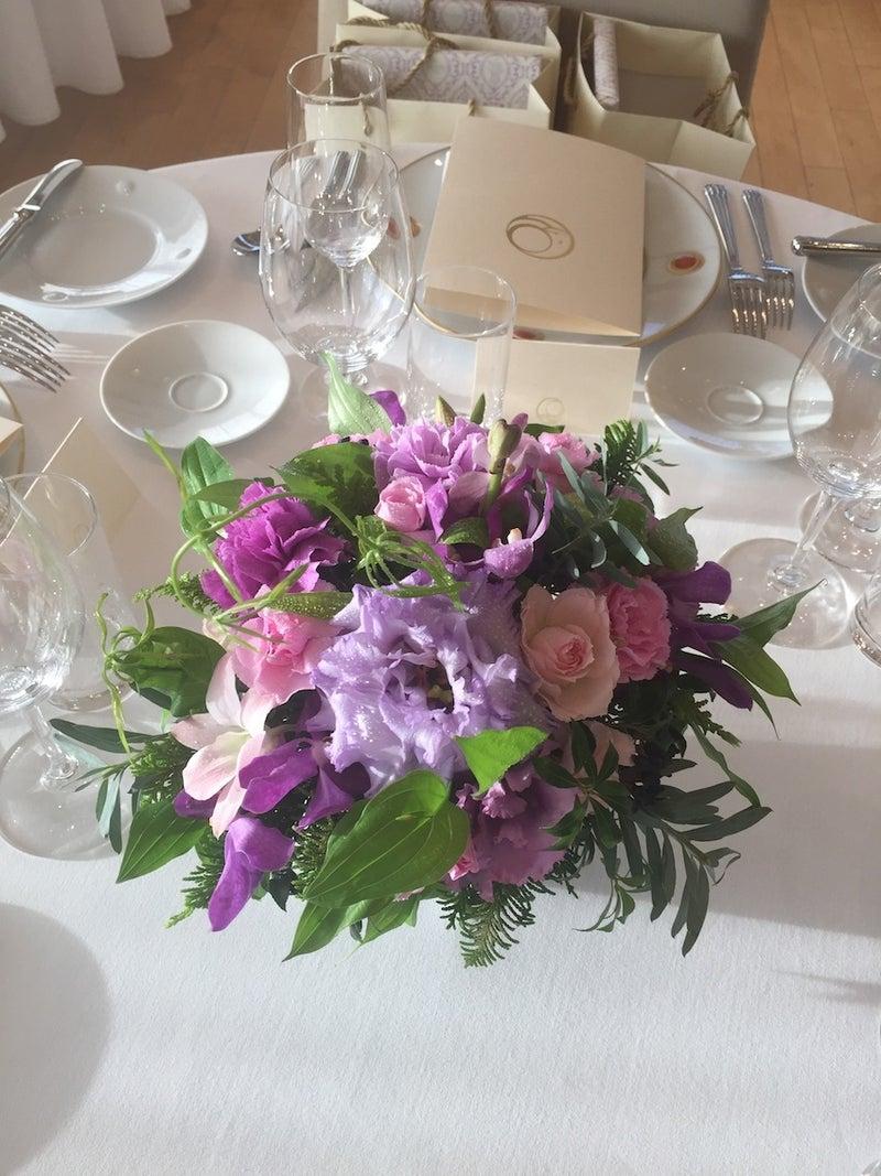 オーベルジュさくらい披露宴卓上装花1015