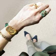 芥子パールビーズ刺繍リング/指輪
