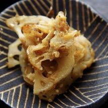 レンコンの生姜焼き