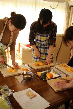 柏オーガニック料理教室 柿のコンポート