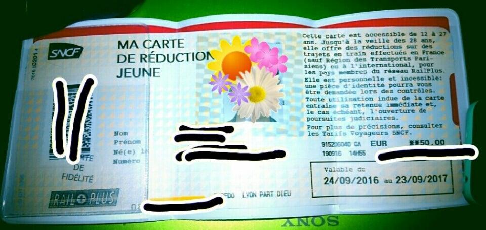 SNCFでCarte Jeuneを買った話 | フランスを旅した女 ワーホリから帰国