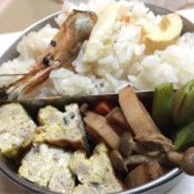 甘海老筍ご飯、秋鮭白…