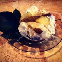 洋梨のかき氷¥400…