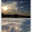 彩雲と夕陽ー 伊弉諾…
