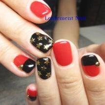 赤黒☆ジェルネイル