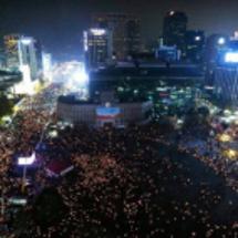 南朝鮮のデモにゲスト…
