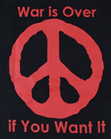 War Is Over Peace Mark