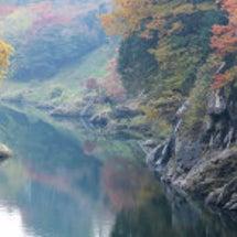紅葉の渡良瀬川に行っ…