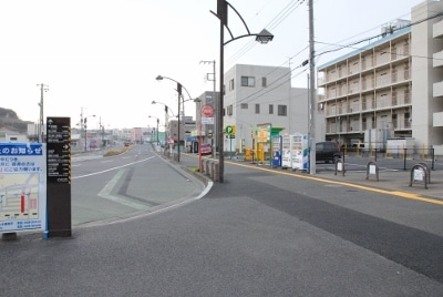 袖ヶ浦駅前交番の前