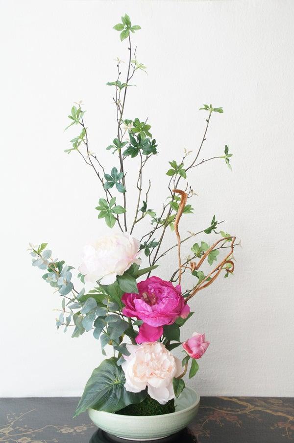 ピンク芍薬の造花