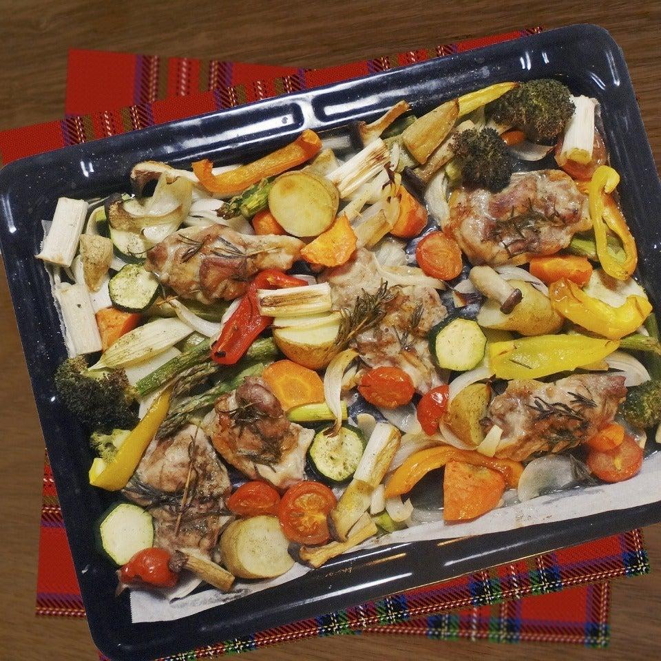 チキンと彩り野菜のグリル \u201cぎゅうぎゅう焼き\u201d