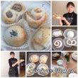 米粉成形パン作り