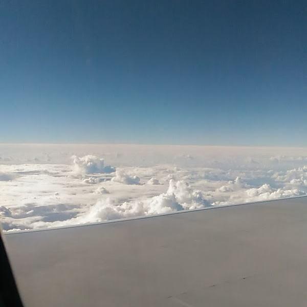 ホノルルの上空