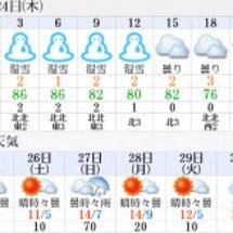 11月24日のお天気