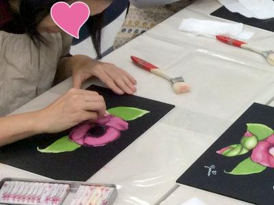 仙川カルチャーセンターチョークアート講座の様子3
