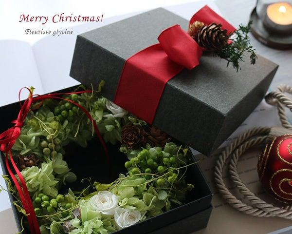 ボックスフラワー,クリスマス,リース