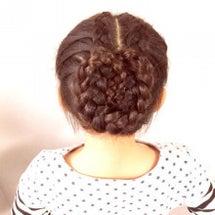 編み込みまとめ髪♡と…