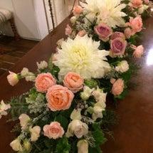 一日中、お花にかこま…