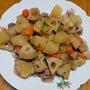 昨日の晩御飯「根菜の…