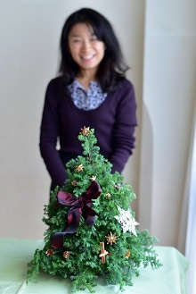 クリスマスツリーアレンジメント テーブルツリー