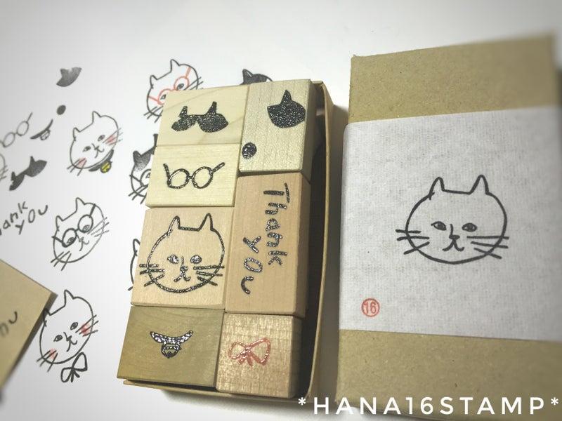 ネコです はんこです。箱まで作ってみました
