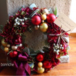 red wreath…