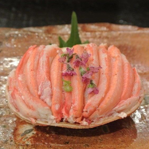 赤坂津やま 香箱蟹の甲羅詰2