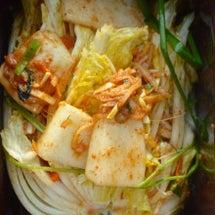 韓国でキムチ作り 羅…