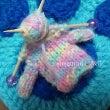 爪楊枝でセーター編ん…
