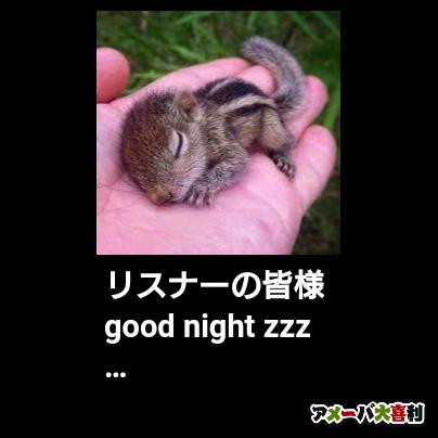 リスナーの皆様 good night zzz…