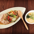 麦ご飯の中華丼と京の…