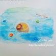 水彩色鉛筆画