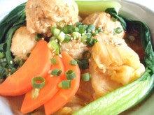 鶏団子の坦々胡麻スープ