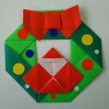 折り紙☆クリスマスリ…