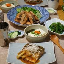 鯖の味噌煮と竜田揚げ