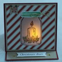 クリスマスカードを作…