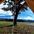富士山を見にキャンプ…