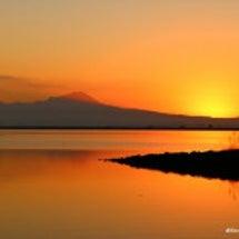 山陰の美しい夜明け …