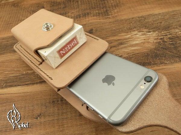 しっかり収納、i Phone6&タバコカスタムケース