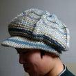 毛糸のキャスケット帽