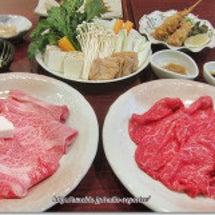 米久で近江牛のすき焼…