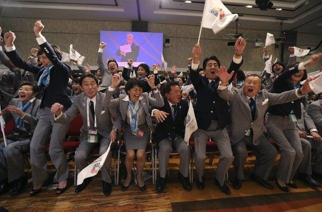 東京オリンピック開催に喜ぶ関係者